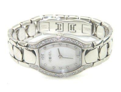 12: 12: Ebel Stainless Steel Diamond Watch
