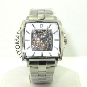 20: 20: Kenneth Cole Stainless Steel Skeleton Watch