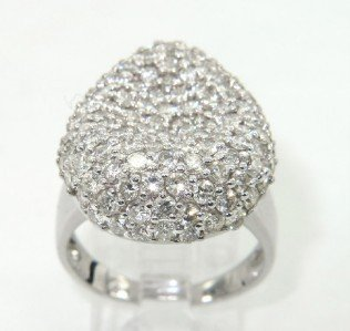 2A: 2A: 2A: Salavetti 18K White Gold Diamond Ring