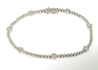 6: 6: 6: 18K White Gold Diamond Bracelet