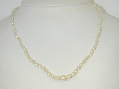 12: Mikimoto 18K Yellow Gold Pearl Necklace
