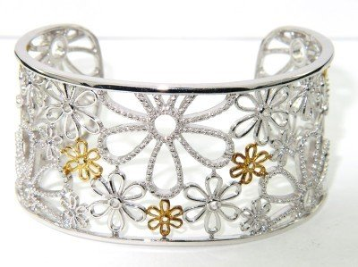 2: Silver & 14K Yellow Gold Bangle