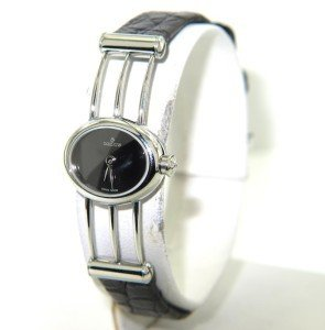 5: Milus Stainless Steel Leather Strap Watch