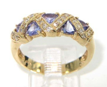 4: 14K Yellow Gold Tanzanite Diamond Ring