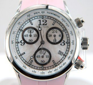 Nautica Stainless Steel Chronograph Rubber Strap Watch