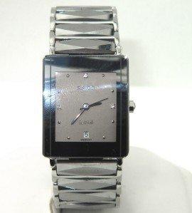 Rado Stainless Steel Diamond DateJust Mens Watch