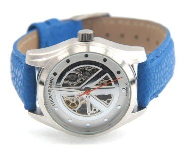 18: Lucky Brand Stainless Steel Leather Strap Watch