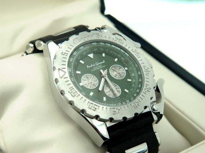 3: Andre Giroud Stainless Steel Chronograph Watch