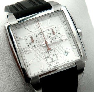 15: Tissot Stainless Steel Chronograph Rubber Strap Wat