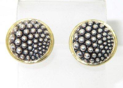 Lagos 18K Yellow Gold/Silver Earring