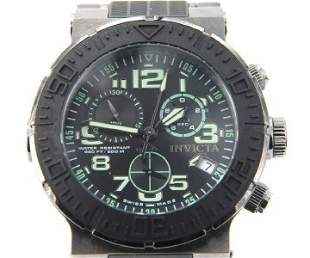Invicta Stainless Steel / Rubber Chronograph Watch