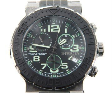 2: Invicta Stainless Steel / Rubber Chronograph Watch