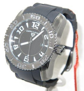 5: Swiss Legend Stainless Steel Rubber Strap Watch