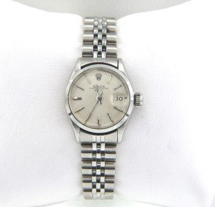 17: Rolex Stainless Steel Ladies Watch