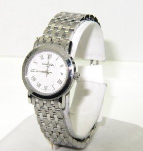 6A: 6A: Raymond Weil Stainless Steel Date Just Watch