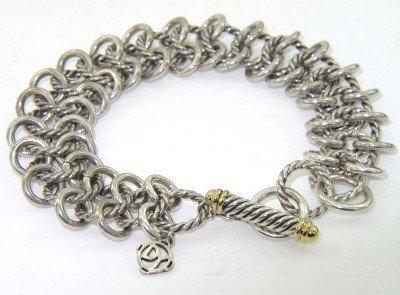 19A: 19A: David Yurman Silver/18K Yellow Gold Bracelet