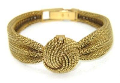 352: 352: Omega 18K Yellow Gold Wrist Watch.