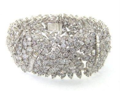 424: 18K White Gold Diamond Bracelet