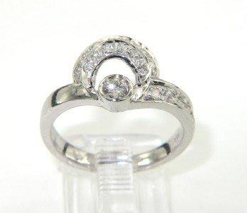 5: 14K White Gold Diamond Ring