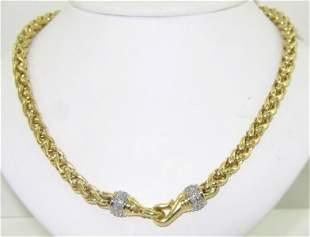 5: David Yurman 18K Yellow Gold Diamond Necklace