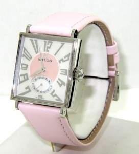 5A: Milus Stainless Steel Leather Strap Watch