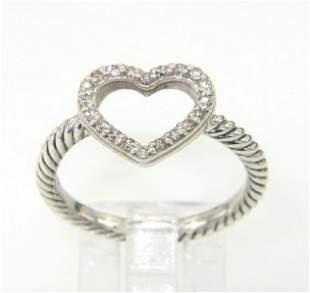 David Yurman Silver, Diamond Ring