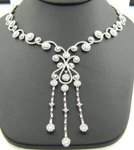 171A: 171A: 18K White Gold Diamond Necklace