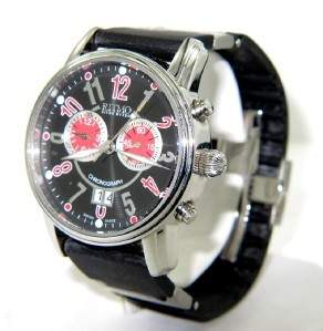 Ritmo Stainless Steel Rubber Strap Watch
