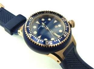 7: Swiss Legend Stainless Steel Rubber Strap Watch