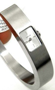12: 12: Milus Stainless Steel Bangle Watch