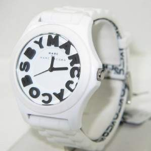 Marc Jacobs Stainless Steel Rubber Strap Watch.