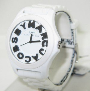 3: Marc Jacobs Stainless Steel Rubber Strap Watch.