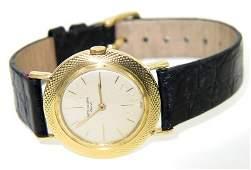 30: Patek Philippe 18K Yellow Gold Leather Strap Watch
