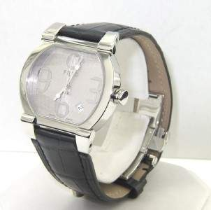 Fred Paris Stainless Steel DateJust Leather Strap Wa