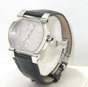 5: Fred Paris Stainless Steel DateJust Leather Strap Wa