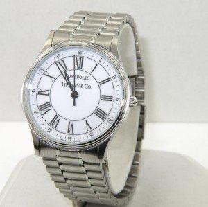 12A: Tiffany & Co Portfolio Stainless Steel Watch