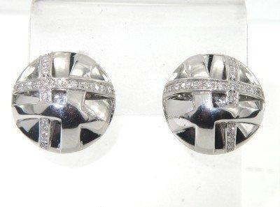 2A: 2A: 18K White Gold Diamond Earrings