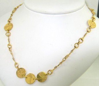 2B: Gucci 18K Yellow Gold Necklace