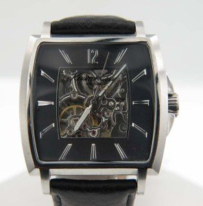 12: Kenneth Cole Stainless Steel Skeleton Watch