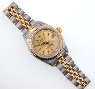 4A: Rolex 18K Gold / Stainless Steel Datejust Ladies Wa