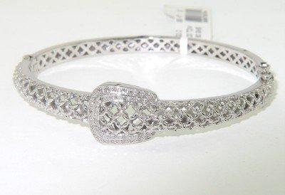 2: Silver Diamond Bangle