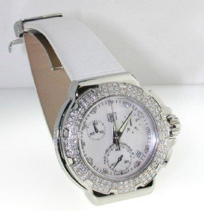 5: Tag Heuer Stainless Steel, Diamond Strap Watch.