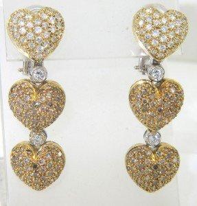 14: Zydo 18K Two-Toned Gold Diamond Earrings