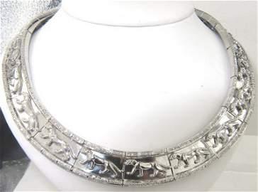 123: 18K White Gold Diamond Necklace
