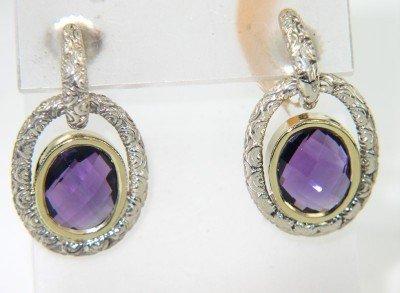 17A: Charles Krypell Silver Amethyst Earrings