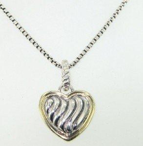 6A: David Yurman Silver/18K Yellow Gold Necklace.
