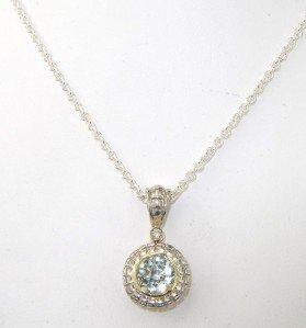 16A: Charles Krypell Silver Prasiolite & Diamond Neckla