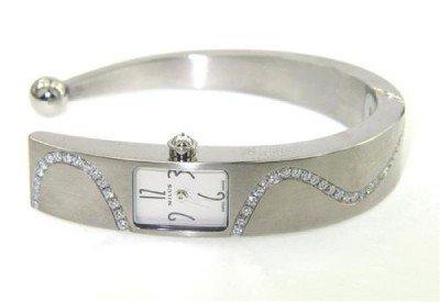 8: Milus Stainless Steel Diamond Bangle Watch