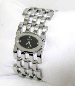 9: Fred Stainless Steel Diamond Ladies Watch