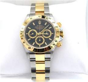 136A: 136A: Rolex Daytona18K Yellow Gold/Stainless Stee